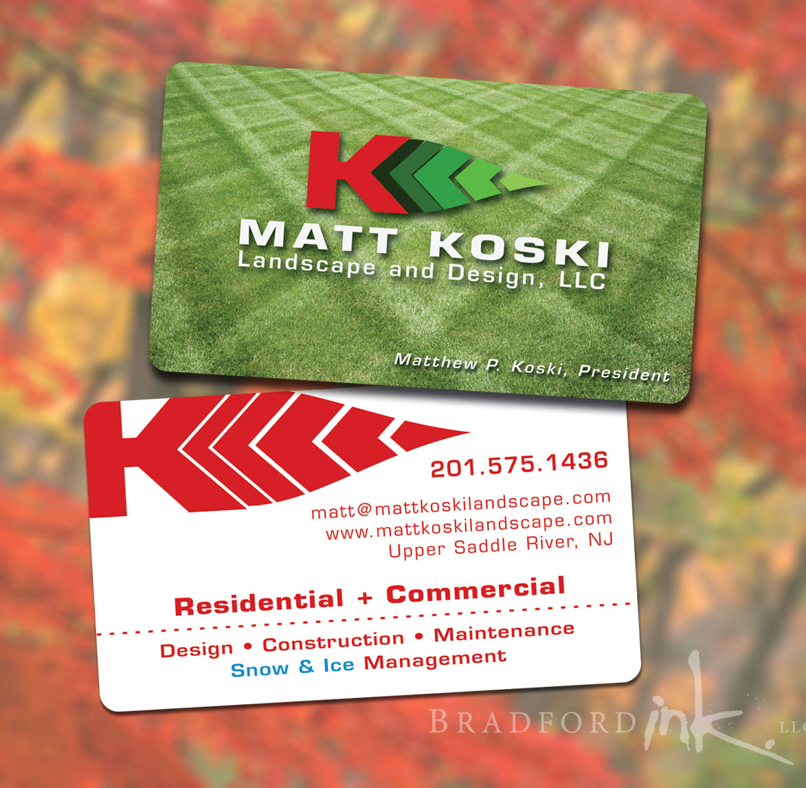 Landscaping Business Cards Examples images