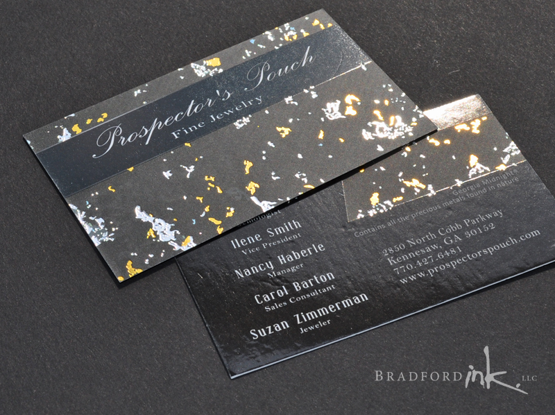 Prospector's Pouch cards with foil effect